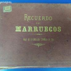 Militaria: ESPECTACULAR LIBRO FOTOGRAFICO FOTOGRAFIAS RECUERDO DE MARRUECOS 1894 ECHAGUE HAUSER Y MENET. Lote 277751488