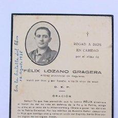 Militaria: ESQUELA ALFÉREZ PROVISIONAL REGULARES. Lote 278564278