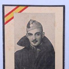 Militaria: ESQUELA SOLDADO AMETRALLADORAS BATALLA BELCHITE 1937. Lote 278564553