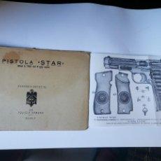 Militaria: MANUAL DE PISTOLA STAR. MODELO S.1941.CALIBRE 9 CORTO. ACADEMIA ESPECIAL DE POLICÍA ARMADA. MADRID. Lote 279510868