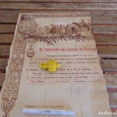Militaria: DOCUMENTO CONCESION DE LA MEDALLA DE LA PAZ DE MARRUECOS 1928 FIRMADO PRIMO DE RIVERA. Lote 279590918