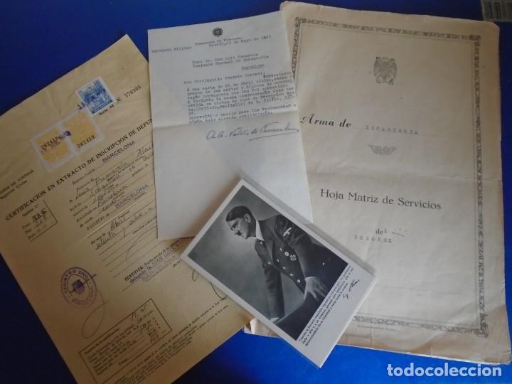 (MI-210911) CORONEL D.LUIS PUMAROLA JEFE SER.RETAGUARDIA DIVISION AZUL Y LEGION AZUL DOCUMENTOS (Militar - Propaganda y Documentos)