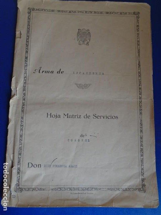 Militaria: (MI-210911) CORONEL D.LUIS PUMAROLA JEFE SER.RETAGUARDIA DIVISION AZUL Y LEGION AZUL DOCUMENTOS - Foto 10 - 287485553