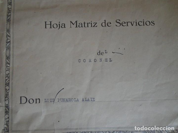 Militaria: (MI-210911) CORONEL D.LUIS PUMAROLA JEFE SER.RETAGUARDIA DIVISION AZUL Y LEGION AZUL DOCUMENTOS - Foto 12 - 287485553