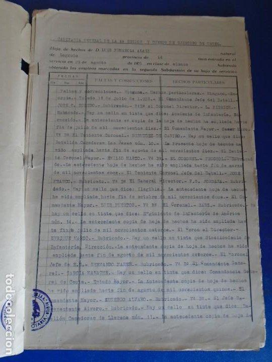 Militaria: (MI-210911) CORONEL D.LUIS PUMAROLA JEFE SER.RETAGUARDIA DIVISION AZUL Y LEGION AZUL DOCUMENTOS - Foto 13 - 287485553