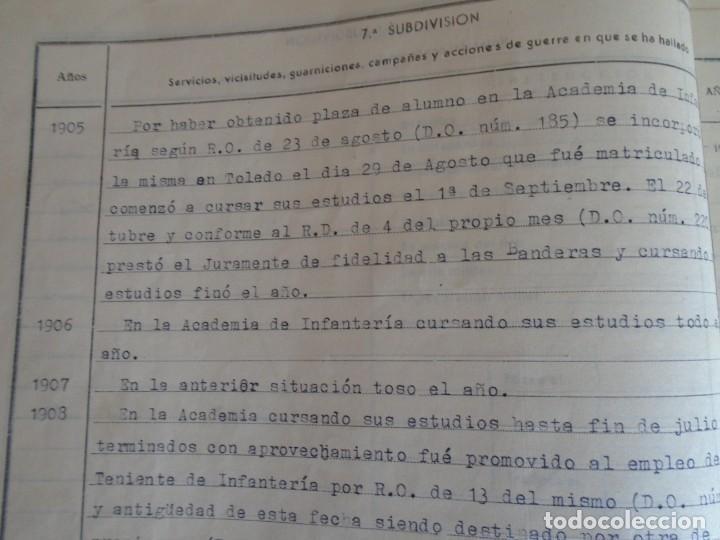 Militaria: (MI-210911) CORONEL D.LUIS PUMAROLA JEFE SER.RETAGUARDIA DIVISION AZUL Y LEGION AZUL DOCUMENTOS - Foto 21 - 287485553