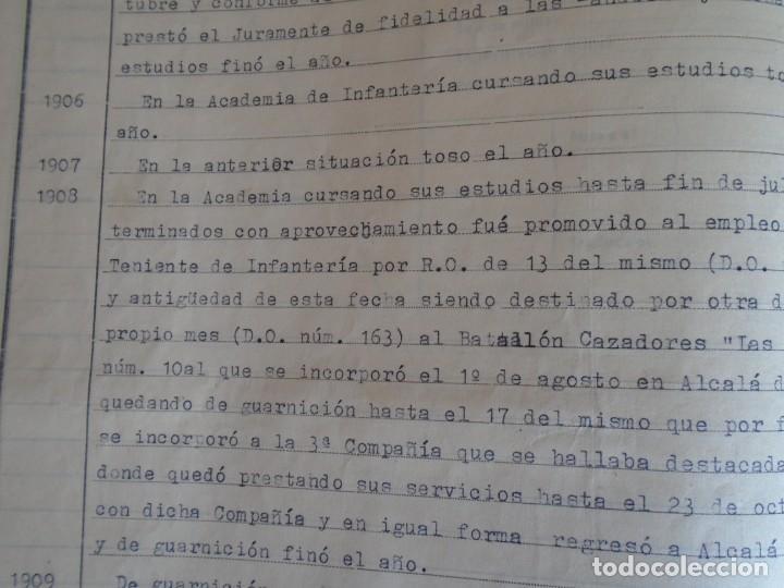 Militaria: (MI-210911) CORONEL D.LUIS PUMAROLA JEFE SER.RETAGUARDIA DIVISION AZUL Y LEGION AZUL DOCUMENTOS - Foto 22 - 287485553