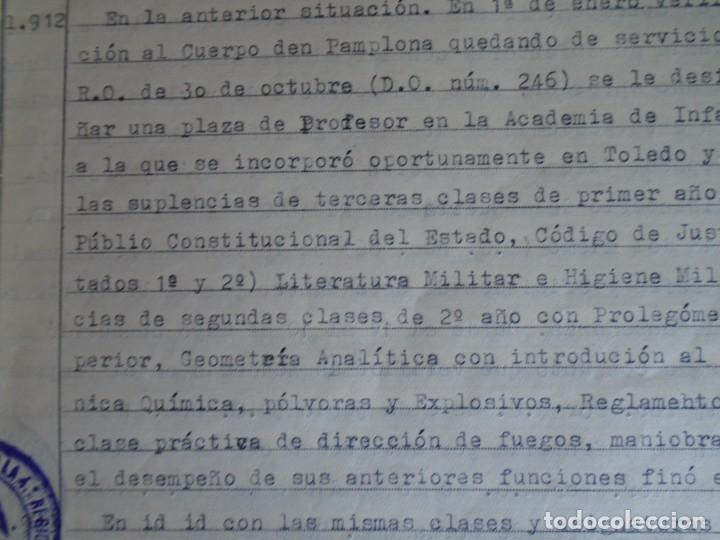 Militaria: (MI-210911) CORONEL D.LUIS PUMAROLA JEFE SER.RETAGUARDIA DIVISION AZUL Y LEGION AZUL DOCUMENTOS - Foto 31 - 287485553