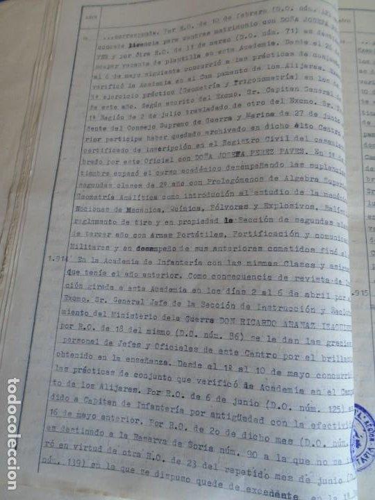 Militaria: (MI-210911) CORONEL D.LUIS PUMAROLA JEFE SER.RETAGUARDIA DIVISION AZUL Y LEGION AZUL DOCUMENTOS - Foto 32 - 287485553