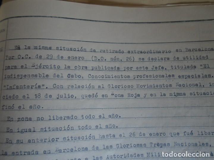 Militaria: (MI-210911) CORONEL D.LUIS PUMAROLA JEFE SER.RETAGUARDIA DIVISION AZUL Y LEGION AZUL DOCUMENTOS - Foto 43 - 287485553