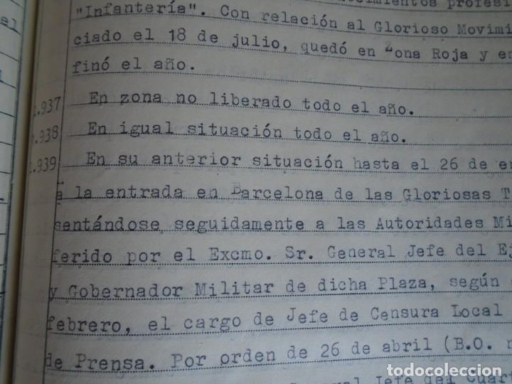 Militaria: (MI-210911) CORONEL D.LUIS PUMAROLA JEFE SER.RETAGUARDIA DIVISION AZUL Y LEGION AZUL DOCUMENTOS - Foto 44 - 287485553