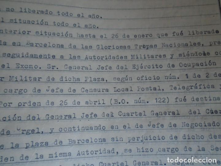 Militaria: (MI-210911) CORONEL D.LUIS PUMAROLA JEFE SER.RETAGUARDIA DIVISION AZUL Y LEGION AZUL DOCUMENTOS - Foto 45 - 287485553