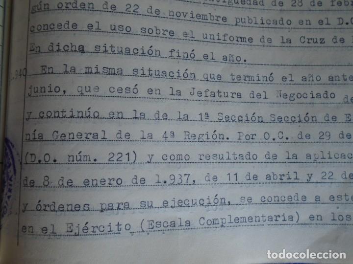 Militaria: (MI-210911) CORONEL D.LUIS PUMAROLA JEFE SER.RETAGUARDIA DIVISION AZUL Y LEGION AZUL DOCUMENTOS - Foto 46 - 287485553