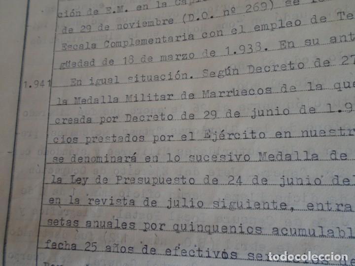 Militaria: (MI-210911) CORONEL D.LUIS PUMAROLA JEFE SER.RETAGUARDIA DIVISION AZUL Y LEGION AZUL DOCUMENTOS - Foto 47 - 287485553