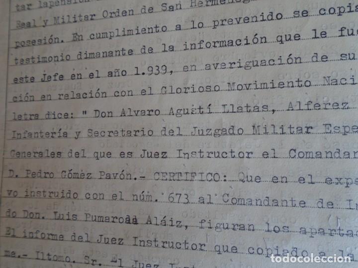 Militaria: (MI-210911) CORONEL D.LUIS PUMAROLA JEFE SER.RETAGUARDIA DIVISION AZUL Y LEGION AZUL DOCUMENTOS - Foto 48 - 287485553