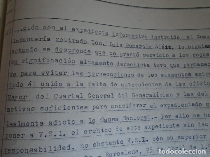 Militaria: (MI-210911) CORONEL D.LUIS PUMAROLA JEFE SER.RETAGUARDIA DIVISION AZUL Y LEGION AZUL DOCUMENTOS - Foto 49 - 287485553