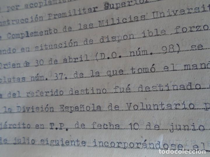 Militaria: (MI-210911) CORONEL D.LUIS PUMAROLA JEFE SER.RETAGUARDIA DIVISION AZUL Y LEGION AZUL DOCUMENTOS - Foto 54 - 287485553