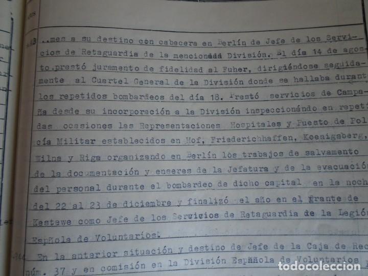 Militaria: (MI-210911) CORONEL D.LUIS PUMAROLA JEFE SER.RETAGUARDIA DIVISION AZUL Y LEGION AZUL DOCUMENTOS - Foto 60 - 287485553