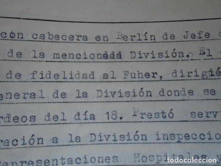 Militaria: (MI-210911) CORONEL D.LUIS PUMAROLA JEFE SER.RETAGUARDIA DIVISION AZUL Y LEGION AZUL DOCUMENTOS - Foto 61 - 287485553