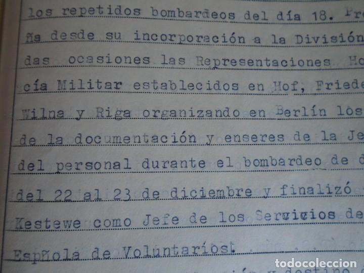 Militaria: (MI-210911) CORONEL D.LUIS PUMAROLA JEFE SER.RETAGUARDIA DIVISION AZUL Y LEGION AZUL DOCUMENTOS - Foto 62 - 287485553