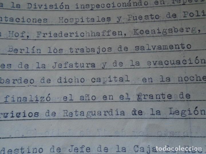 Militaria: (MI-210911) CORONEL D.LUIS PUMAROLA JEFE SER.RETAGUARDIA DIVISION AZUL Y LEGION AZUL DOCUMENTOS - Foto 63 - 287485553