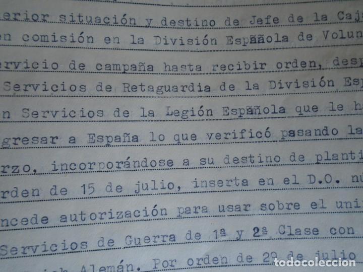 Militaria: (MI-210911) CORONEL D.LUIS PUMAROLA JEFE SER.RETAGUARDIA DIVISION AZUL Y LEGION AZUL DOCUMENTOS - Foto 65 - 287485553