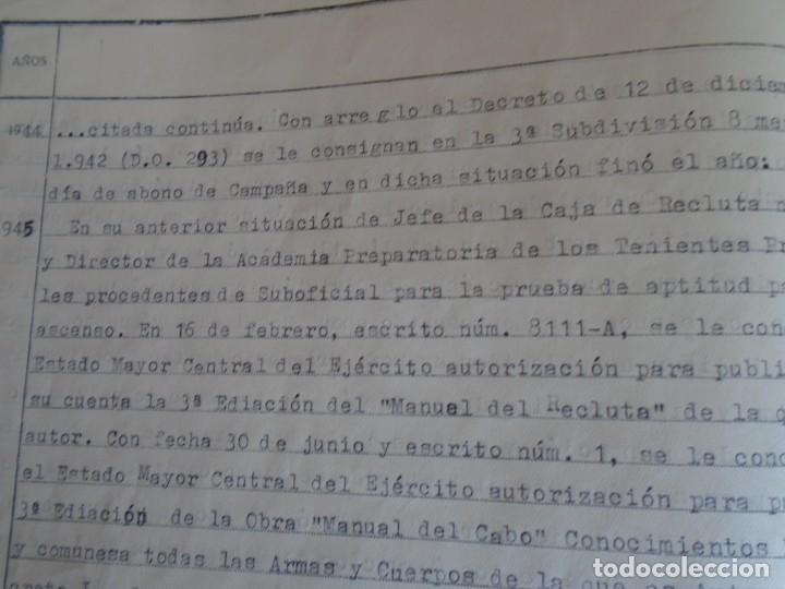 Militaria: (MI-210911) CORONEL D.LUIS PUMAROLA JEFE SER.RETAGUARDIA DIVISION AZUL Y LEGION AZUL DOCUMENTOS - Foto 69 - 287485553