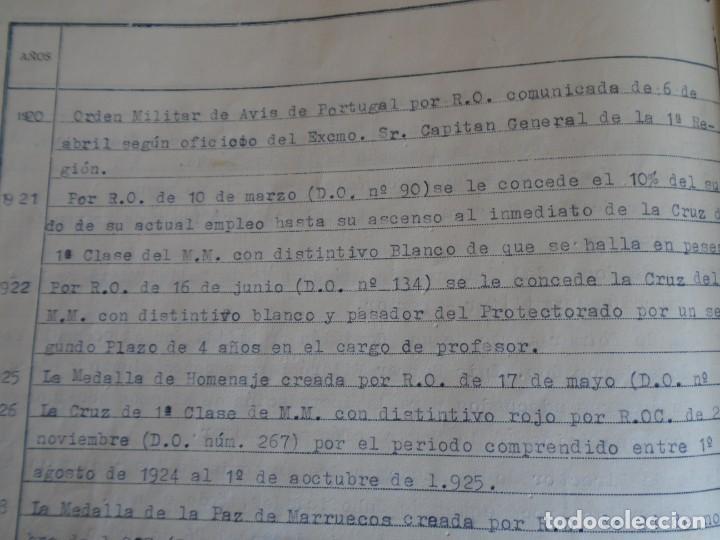 Militaria: (MI-210911) CORONEL D.LUIS PUMAROLA JEFE SER.RETAGUARDIA DIVISION AZUL Y LEGION AZUL DOCUMENTOS - Foto 73 - 287485553
