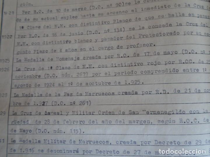Militaria: (MI-210911) CORONEL D.LUIS PUMAROLA JEFE SER.RETAGUARDIA DIVISION AZUL Y LEGION AZUL DOCUMENTOS - Foto 74 - 287485553