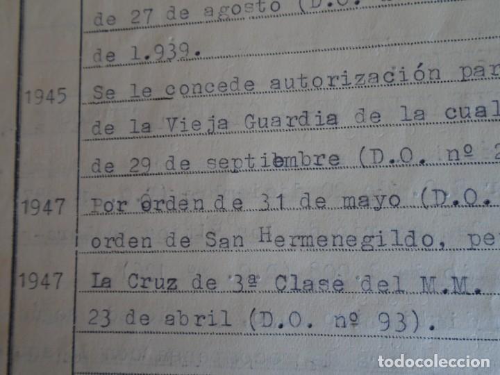 Militaria: (MI-210911) CORONEL D.LUIS PUMAROLA JEFE SER.RETAGUARDIA DIVISION AZUL Y LEGION AZUL DOCUMENTOS - Foto 76 - 287485553