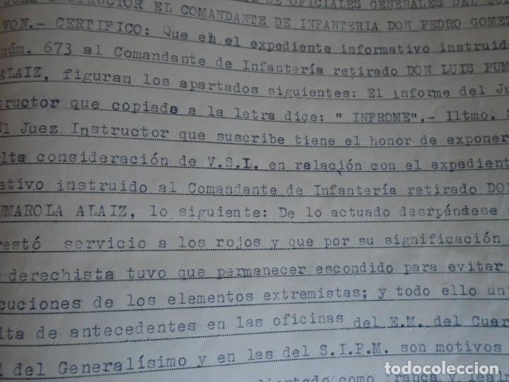 Militaria: (MI-210911) CORONEL D.LUIS PUMAROLA JEFE SER.RETAGUARDIA DIVISION AZUL Y LEGION AZUL DOCUMENTOS - Foto 78 - 287485553