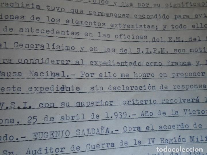 Militaria: (MI-210911) CORONEL D.LUIS PUMAROLA JEFE SER.RETAGUARDIA DIVISION AZUL Y LEGION AZUL DOCUMENTOS - Foto 79 - 287485553