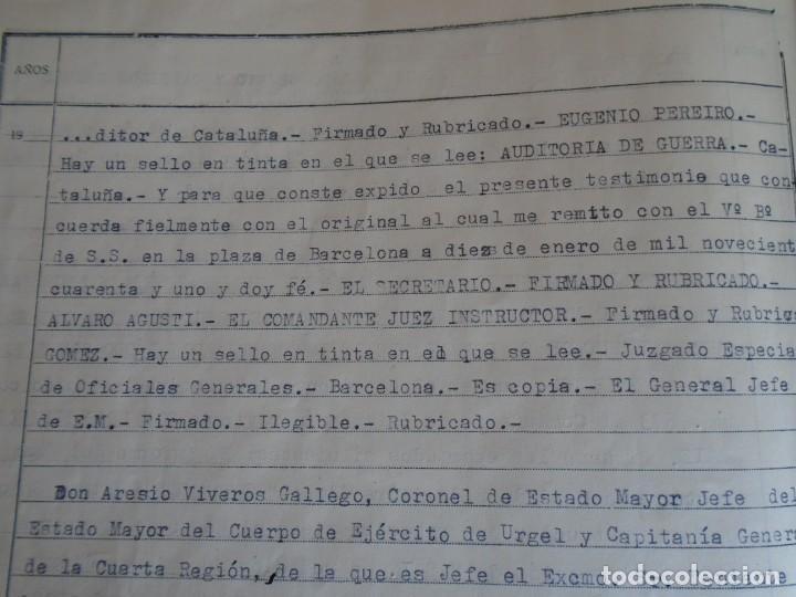 Militaria: (MI-210911) CORONEL D.LUIS PUMAROLA JEFE SER.RETAGUARDIA DIVISION AZUL Y LEGION AZUL DOCUMENTOS - Foto 80 - 287485553