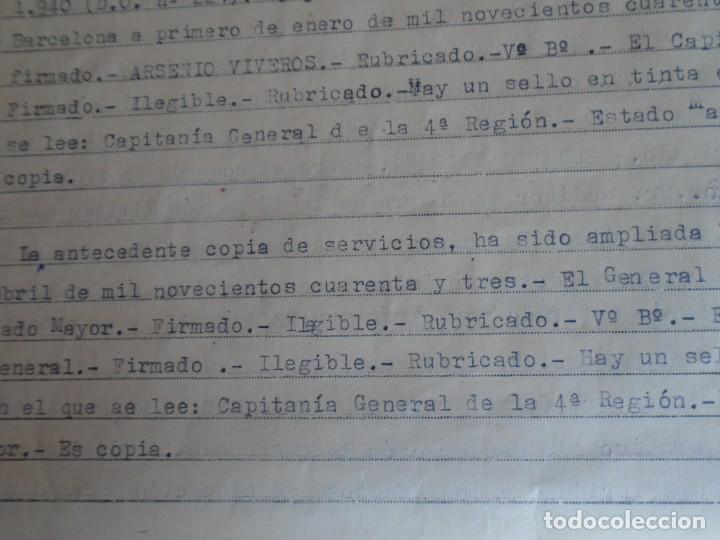 Militaria: (MI-210911) CORONEL D.LUIS PUMAROLA JEFE SER.RETAGUARDIA DIVISION AZUL Y LEGION AZUL DOCUMENTOS - Foto 82 - 287485553