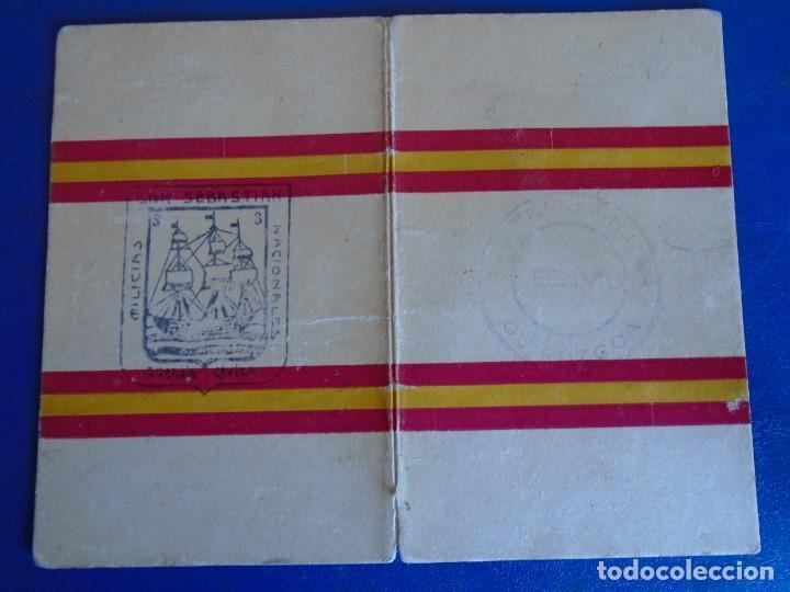 Militaria: (MI-210913)CARNET GUARDIA CIVICA NACIONAL DE SAN SEBASTIAN - 1-4-1937 - GUERRA CIVIL - Foto 4 - 287989823