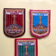 Militaria: VALLE DE LOS CAÍDOS,CUELGAMUROS,FRANCO,FRANQUISTA,FALANGE,TRES EMBLEMAS TELA,AÑOS 50/60. Lote 288136533