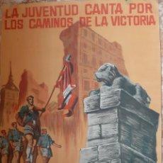 Militaria: (CAR-210910)CARTEL FRENTE DE JUVENTUDES-DIA DE LA CANCION-ILUSTRADO POR HUETE GIUSEPPE. Lote 288455238