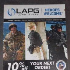 Militaria: CATÁLOGO COMERCIAL MILITAR POLICIA LA POLICE GEAR LAPG ESTADOS UNIDOS USA. Lote 288476863