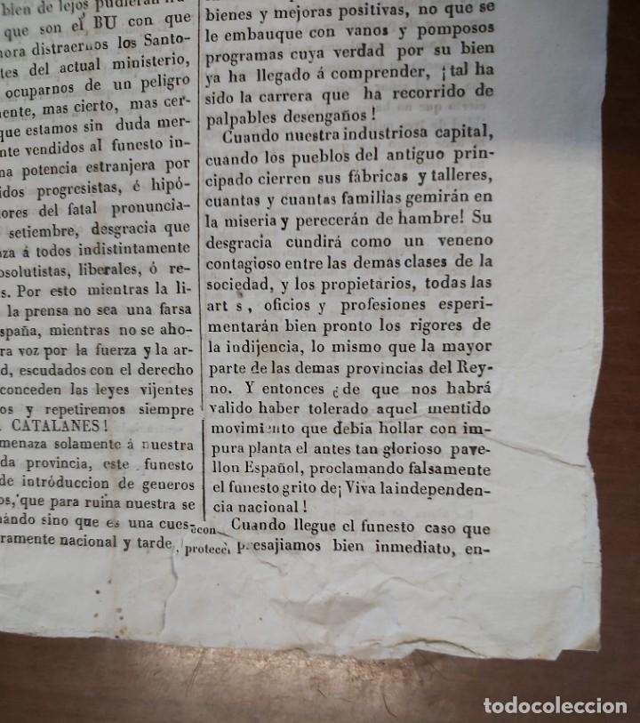 Militaria: EL LORO, hoja volante joco - seria, martes 24 de mayo de 1842 - Foto 3 - 32701271