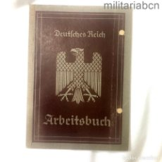 Militaria: ALEMANIA III REICH. ARBEITSBUCH. DEUTSCHES REICH. PRIMER MODELO. CON ANOTACIONES. 1936. Lote 290076018