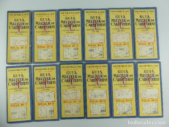 Militaria: COLECCION LOTE DE 12 GUIAS MILITAR DE CARRETERAS ESTADO MAYOR CENTRAL DEL EJERCITO - Foto 3 - 290145018