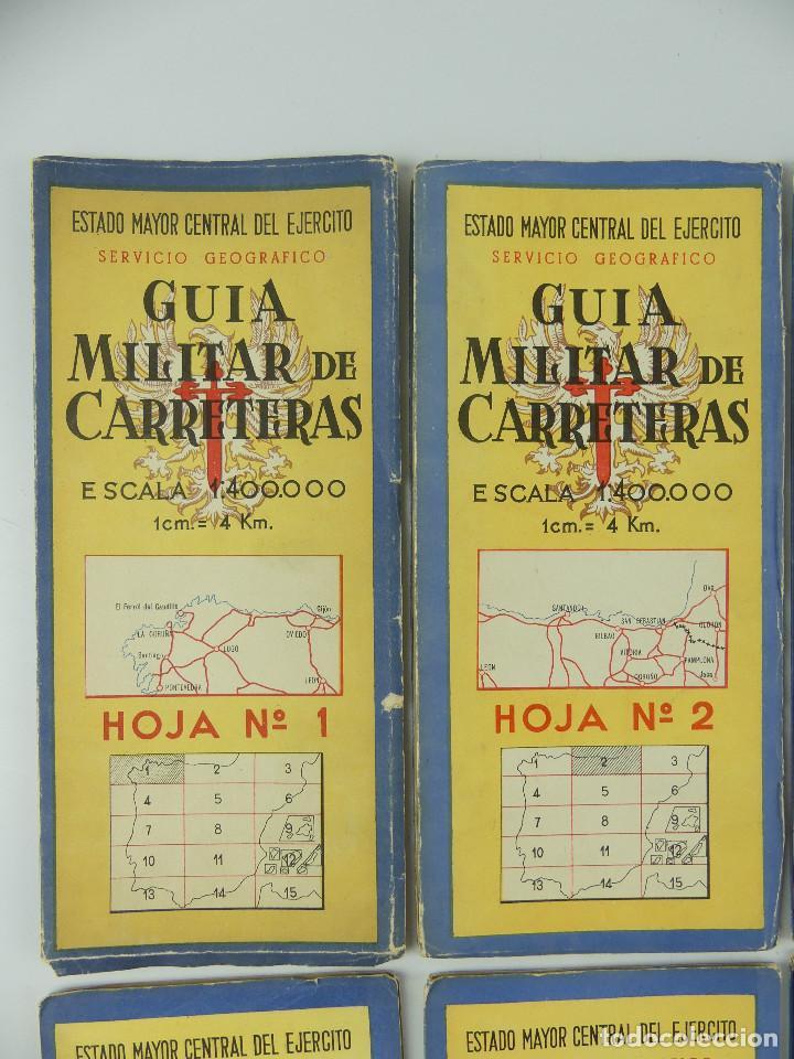 Militaria: COLECCION LOTE DE 12 GUIAS MILITAR DE CARRETERAS ESTADO MAYOR CENTRAL DEL EJERCITO - Foto 4 - 290145018