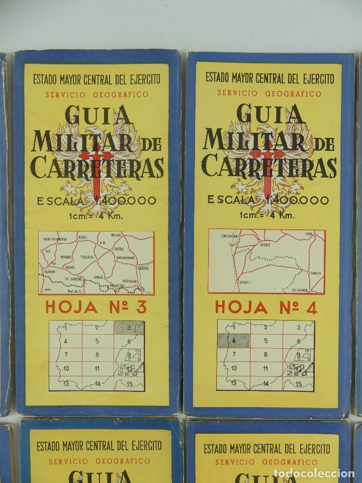 Militaria: COLECCION LOTE DE 12 GUIAS MILITAR DE CARRETERAS ESTADO MAYOR CENTRAL DEL EJERCITO - Foto 5 - 290145018
