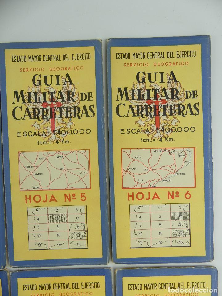Militaria: COLECCION LOTE DE 12 GUIAS MILITAR DE CARRETERAS ESTADO MAYOR CENTRAL DEL EJERCITO - Foto 6 - 290145018