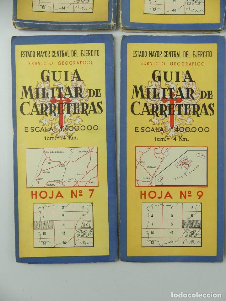 Militaria: COLECCION LOTE DE 12 GUIAS MILITAR DE CARRETERAS ESTADO MAYOR CENTRAL DEL EJERCITO - Foto 7 - 290145018