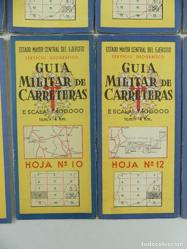 Militaria: COLECCION LOTE DE 12 GUIAS MILITAR DE CARRETERAS ESTADO MAYOR CENTRAL DEL EJERCITO - Foto 8 - 290145018