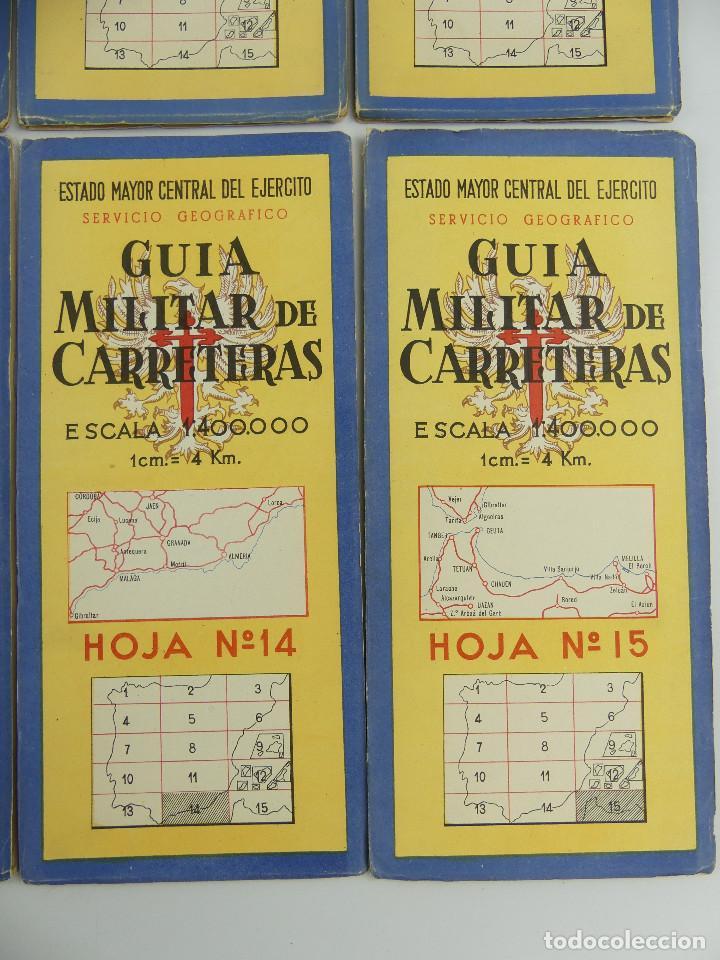 Militaria: COLECCION LOTE DE 12 GUIAS MILITAR DE CARRETERAS ESTADO MAYOR CENTRAL DEL EJERCITO - Foto 9 - 290145018