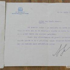 Militaria: CARTA DE DON ALEJANDRO LERROUX GARCIA, PRESIDENTE DEL CONSEJO DE MINISTROS 19 DE JULIO 1935 - CON FI. Lote 293735638
