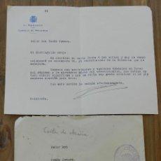 Militaria: CARTA DE MANUEL AZAÑA DIAZ, PRESIDENTE DEL CONSEJO DE MINISTROS 9 DE MARZO DE 1936, CON FIRMA MANUSC. Lote 293737333
