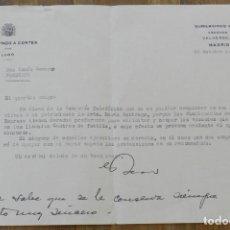 Militaria: CARTA DE GUMERSINDO RICO GONZALEZ, DIPUTADO A CORTES POR LUGO, 22 DE OCTUBRE 1935, CON FIRMA MANUSCR. Lote 293738608